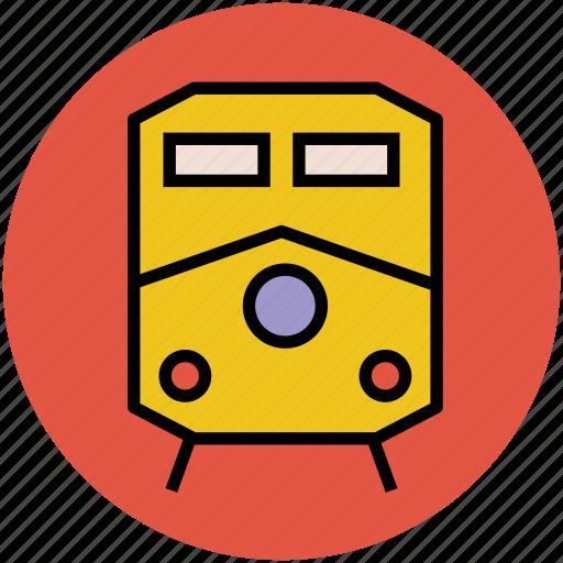 locomotive, subway, train, tram, tramway, transport, travel icon