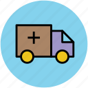 ambulance, hospital, medical transport, rescue service, service icon