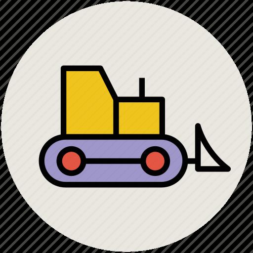 concrete bulldozer, construction, crane, garbage crane, lifter, lifting machine, vehicle icon