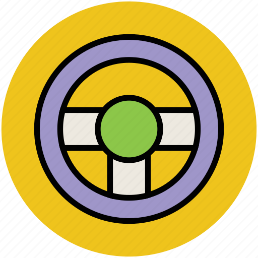 automotive, driver, helm, steering, steering-wheel, wheel icon