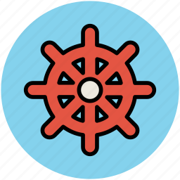 boat wheel, helm, rudder, ship wheel, steering icon
