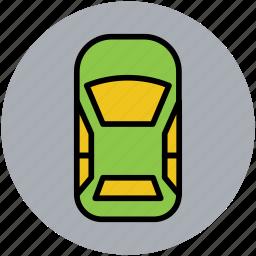 cab, public hire, taxi, taxicab, tourist car icon