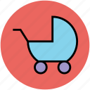 baby buggy, carriage, perambulator, pram, stroller icon