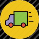 delivery van, mini van, public van, transport, van, vehicle icon