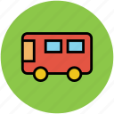 autobus, bus, motorbus, motorcoach, passenger vehicle, public transport. icon