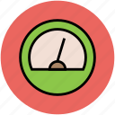 gauge, measure, measurement, meter, performance, speed, speed meter icon