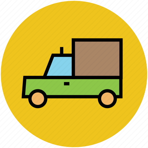 delivery truck, lorry, shipping van, transport, truck icon