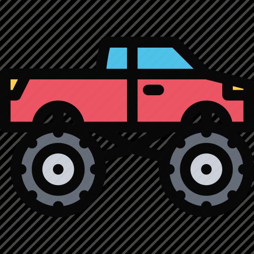 big, car, foot, logistics, machine, transport, transportation icon