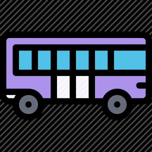 bus, car, logistics, machine, transport, transportation icon