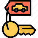 car, keys, logistics, machine, transport, transportation icon