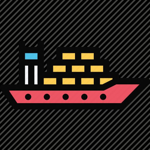 car, cargo, logistics, machine, ship, transport, transportation icon