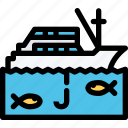 boat, car, fishing, logistics, machine, transport, transportation icon