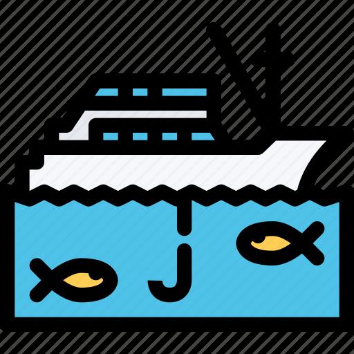 boat, car, fishing, logistics, machine, transport, transportation icon