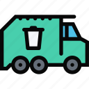 car, garbage, logistics, machine, transport, transportation, truck icon