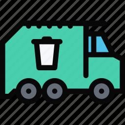 car, garbage, logistics, machine, transport, transportation, truck icon