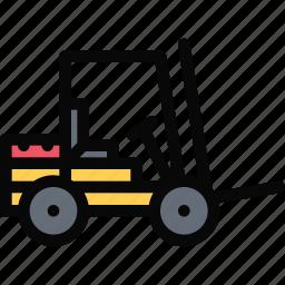 car, lifttruck, logistics, machine, transport, transportation icon