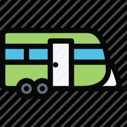 car, house, logistics, machine, trailer, transport, transportation icon