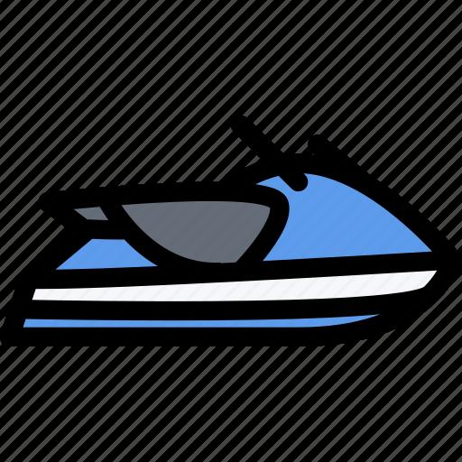 car, logistics, machine, scooter, transport, transportation, water icon