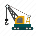 construction, crane, heavy, lifting, machine, vehicle, work icon