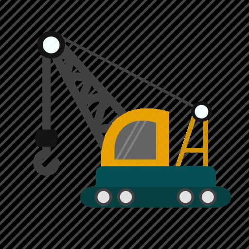 construction, crane, machine, work icon