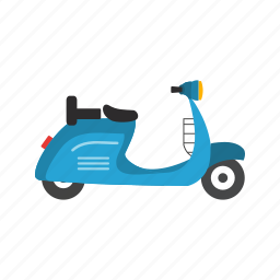 bike, classic, motor, scooter, scooty, travel, vespa icon