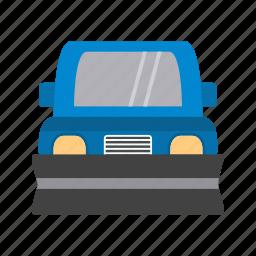 plough, plow, plowing, roadcleaner, snow, snowplow, winter icon