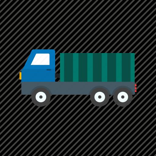 cargo, construction, dump, heavy, machine, machinery, truck icon
