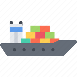 cargo, delivery, ship, shipping, transport, transportation icon