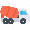 concrete, delivery, mixer, shipping, transport, transportation