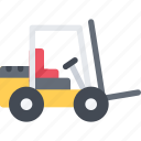 delivery, lifttruck, shipping, transport, transportation