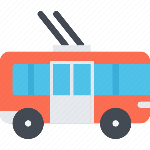 delivery, shipping, transport, transportation, trolleybus icon