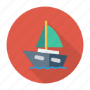 auto, boat, sea, ship, transport, transportation, travel icon
