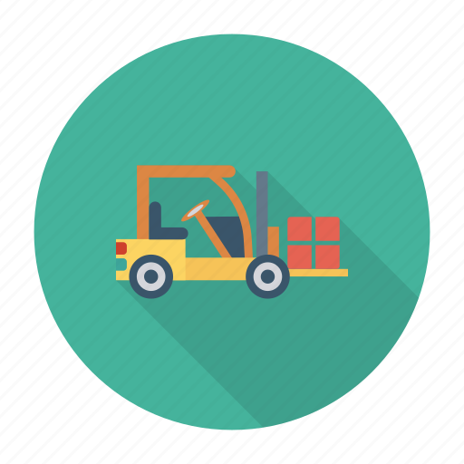 auto, lifter, loader, transport, travel, vehicle, weight icon