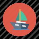 auto, boat, sea, ship, transport, transportation, travel icon