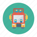 auto, bus, double, transport, transportation, travel, vehicle icon
