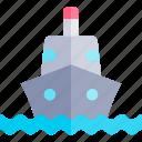 ship, transport, transportation, vehicle icon