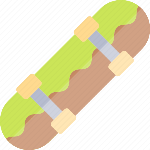 skateboard, transport, transportation, vehicle icon