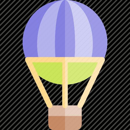 air, balloon, hot, transport, transportation, vehicle icon