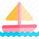 boat, sail, transport, transportation, vehicle icon