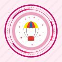air, balloon, fly, travel icon