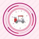 car, cart, electric, golf, transport icon