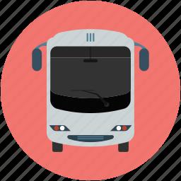 autobus, bus, coach, omnibus, transport, vehicle icon
