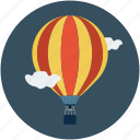 airplay, airship, flying, flying machine, hot air balloon, travel icon