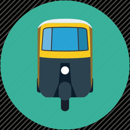 auto, rickshaw, transport, travel, tuk tuk icon