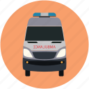 army vehicle, police transport, security van, security vehicle, security wagon icon