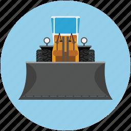 bulldozer, construction, tractor, vehicle, work icon