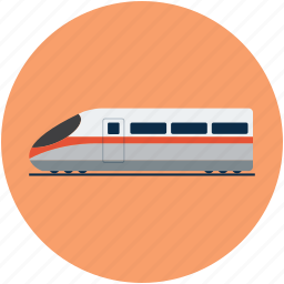 aerotrain, bullet train, high speed train, solar train, winged train icon