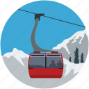 aerial lift, chairlift, detachable, lift, ropeway