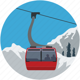 aerial lift, chairlift, detachable, lift, ropeway icon