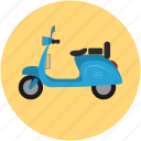 motorscooter, scooter, travel, vespa icon